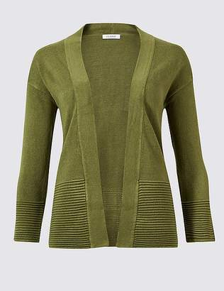 Marks and Spencer Textured 3/4 Sleeve Cardigan