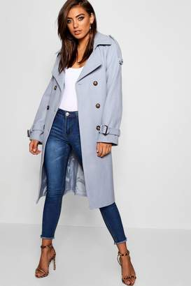 boohoo Belted Wool Look Trench