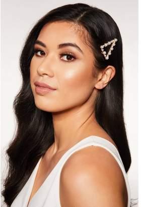 Quiz Pearl Triangle Hair Clip