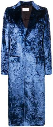 Esteban Cortazar tailored crushed velvet coat