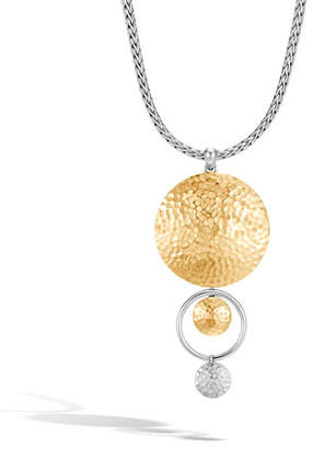 John Hardy Dot 2-Tone Hammered Pendant Necklace