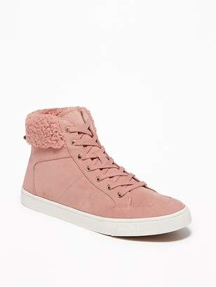 Old Navy Faux-Suede Sherpa-Trim High-Tops for Women