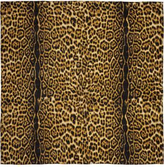 SASQUATCHfabrix. Black and Brown Leopard Scarf