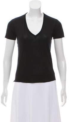 Helmut Lang Short Sleeve V-Neck T-Shirt