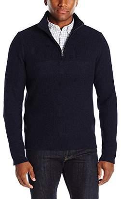 Jack Spade Men's Half Zip Needlepunch Sweater