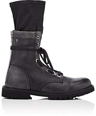 RtA Men's Distressed Leather Combat Boots