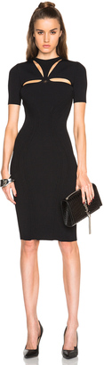 Alexander McQueen Cut Out Neck Pencil Dress $1,795 thestylecure.com