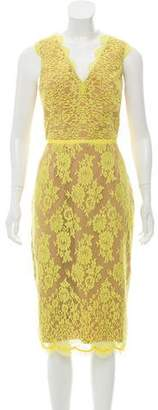 Rachel Gilbert Sleeveless Midi Dress
