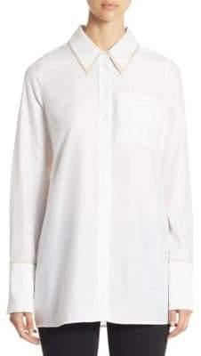 e72a4e0cf3fff White Cotton Oversized Button Down Shirt - ShopStyle