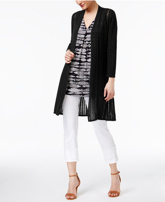Alfani Illusion-Knit Cardigan, Only at Macy's $89.50 thestylecure.com