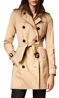 Burberry Kensington Mid-Length Heritage Trench Coat $1,795 thestylecure.com