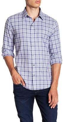 Zachary Prell Lobban Check Print Slim Fit Sport Shirt