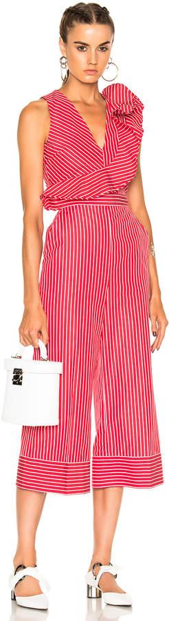 MSGM Striped Sleeveless Jumpsuit