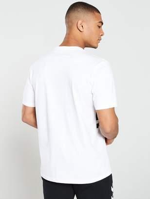Colorblock Short Sleeve Tee - White