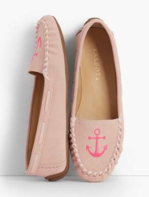 Talbots Everson Driving Moccasins - Embroidered Anchor