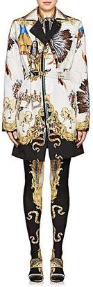 Versace Women's Reversible Graphic Cotton-Silk Jacket - Gold