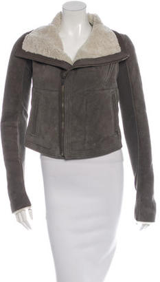 Rick Owens Short Shearling Coat $825 thestylecure.com