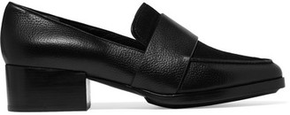 3.1 Phillip Lim - Quinn Suede-paneled Textured-leather Loafers - Black $450 thestylecure.com