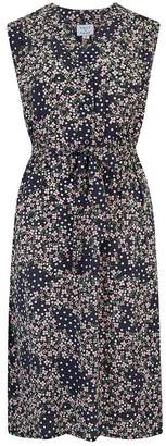 Trilogy Pippa Sleeveless Dress in Dot Flower Navy