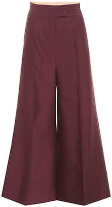 Roksanda Wool and silk wide-leg trousers