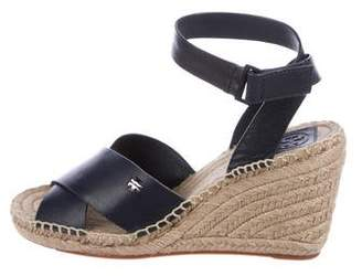 Tory Burch Leather Wedge Sandals w/ Tags