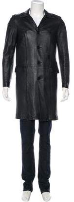 Saint Laurent Shearling-Lined Lambskin Coat