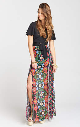 Show Me Your Mumu Mick Double Slit Skirt ~ Mexicali