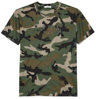 Valentino Camouflage-print Cotton T-shirt