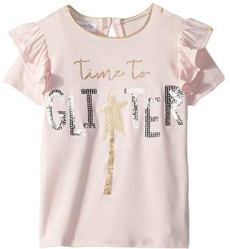 Mud Pie Glitter Sequin Short Sleeve Tee Girl's Clothing