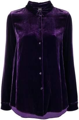 Aspesi velvet buttoned up cardigan