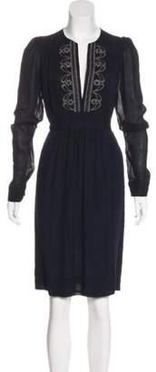 Stella McCartney Long Sleeve Silk Dress