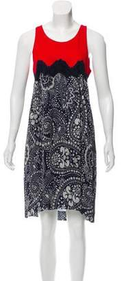 Chloé Printed Knee-Length Dress w/ Tags