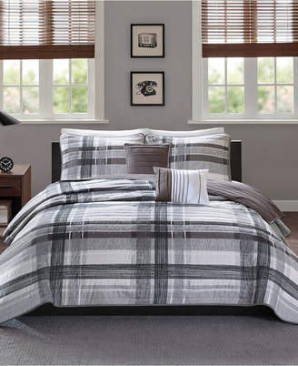 Intelligent Design Rudy Reversible 4-Pc. Plaid Quilted Twin/Twin Xl Coverlet Set