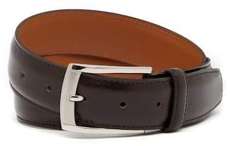 Bosca Stitched Edge Leather Dress Belt