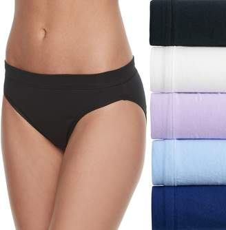 Fruit of the Loom Women's 5-pack Cotton-Blend Stretch Bikini Panty 5DCSSBK