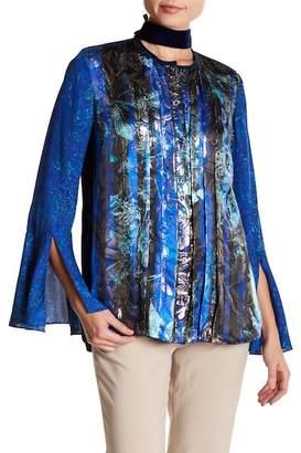 Elie Tahari Izarra Print Silk Blend Blouse