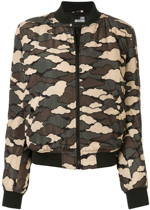 Love Moschino cloud print bomber jacket