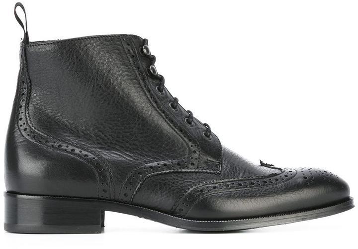 B Store brogue detail boots