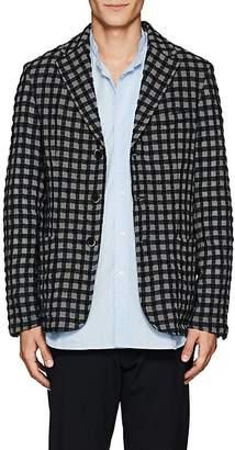 Barena Venezia Men's Checked Wool-Cotton Three-Button Sportcoat