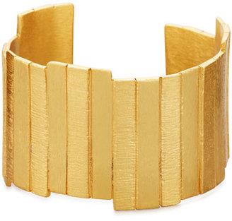 Stephanie Kantis Golden Plank Cuff Bracelet $245 thestylecure.com