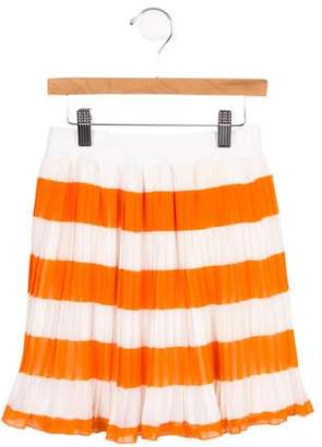 MonnaLisa Girls' Pleated Striped Skirt w/ Tags