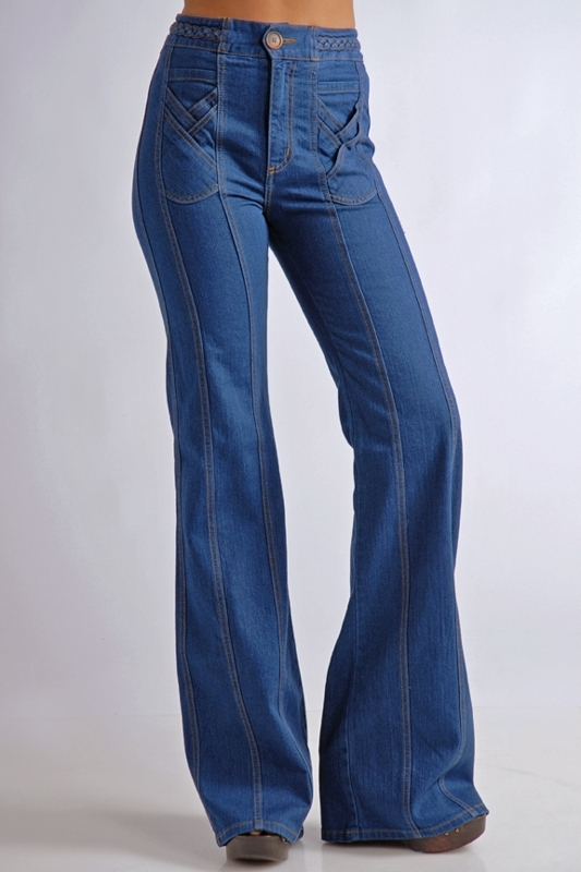 Grey Ant Braid Jeans in Blue