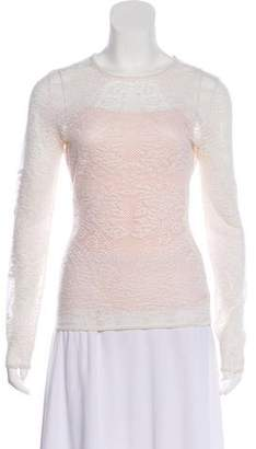 Christian Dior Long Sleeve Open Knit Top