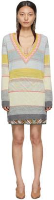 Missoni Multicolor Striped V-Neck Sweater