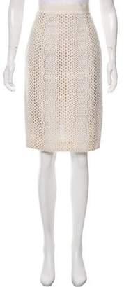 Giambattista Valli Broderie Anglaise Knee-Length Skirt