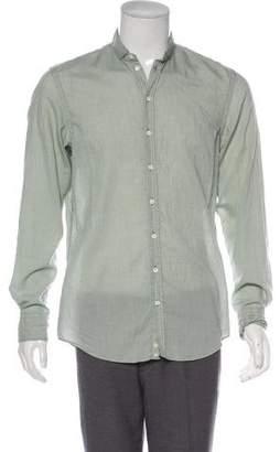 Armani Collezioni Point Collar Button-Up Shirt w/ Tags