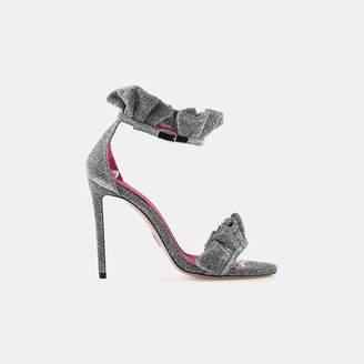 Oscar Tiye Antoinette Ruffle Ankle Strap Sandal
