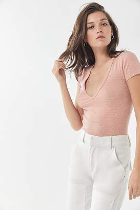 Urban Outfitters Girlfriend V-Neck Tee