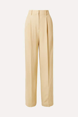 Theory Crepe Wide-leg Pants - Pastel yellow