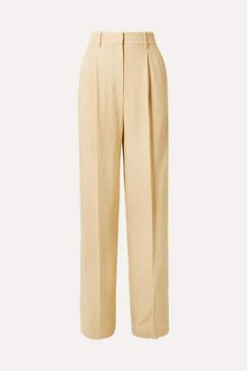 Theory Crepe Wide-leg Pants - Pastel yellow